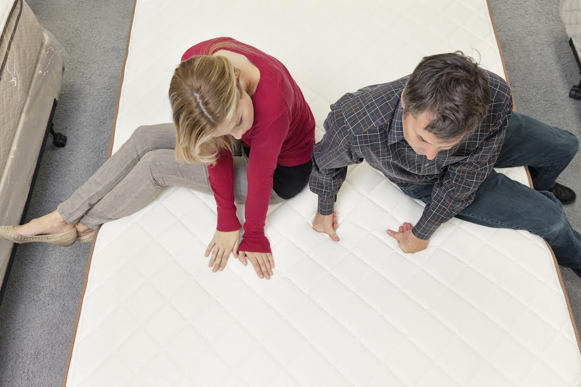 Couple Shopping For A New Mattress All American Mattress